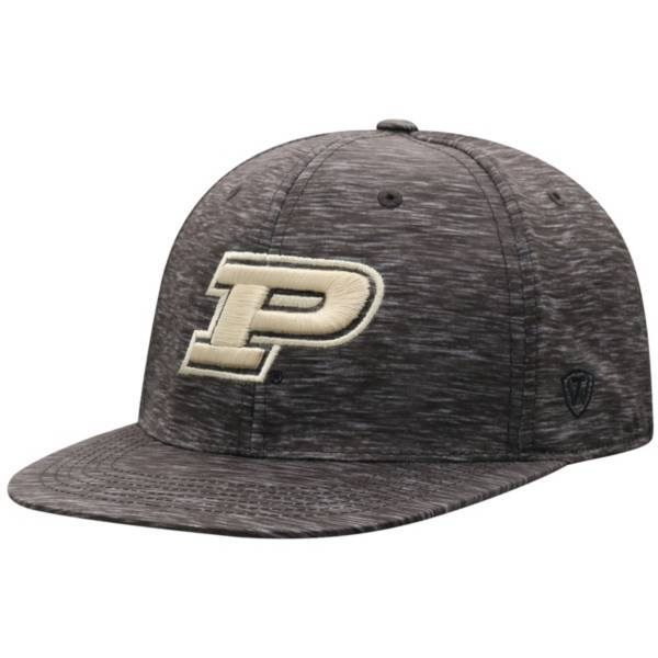 Top of the World Men's Purdue Boilermakers Gritty 1Fit Flex Black Hat product image