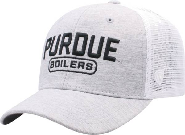 Top of the World Men's Purdue Boilermakers Grey Notch Adjustable Snapback Hat product image