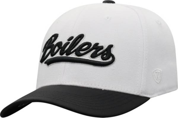Top of the World Men's Purdue Boilermakers Infield 1Fit Flex White Hat product image