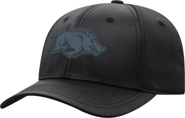 Top of the World Men's Arkansas Razorbacks Progo 1Fit Flex Black Hat product image