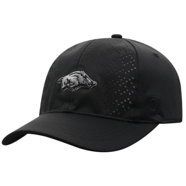 Top of the World Women's Arkansas Razorbacks Focal 1Fit Flex Black Hat product image