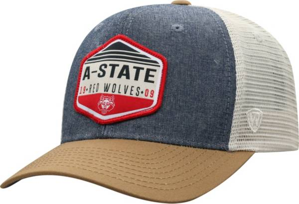 Top of the World Men's Arkansas State Red Wolves Grey Wild Adjustable Hat product image