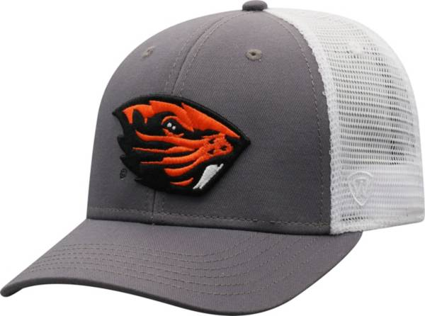 Top of the World Men's Oregon State Beavers Grey/White BB Two-Tone Adjustable Hat product image