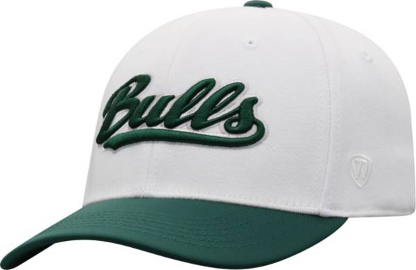 Top of the World Men's South Florida Bulls Infield 1Fit Flex White Hat product image