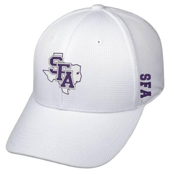 Top of the World Men's Stephen F. Austin Lumberjacks Booster Plus 1Fit Flex White Hat product image