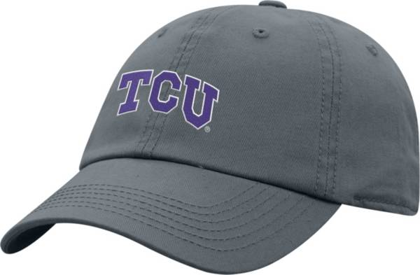 Top of the World Men's TCU Horned Frogs Grey Crew Washed Cotton Adjustable Hat product image