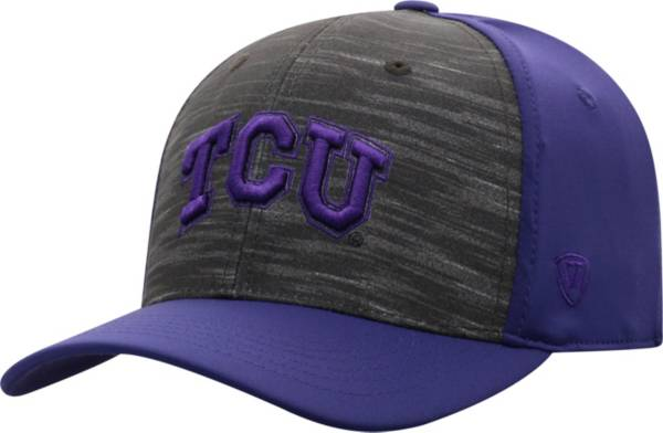 Top of the World Men's TCU Horned Frogs Grey/Purple Pepper 1Fit Flex Hat product image