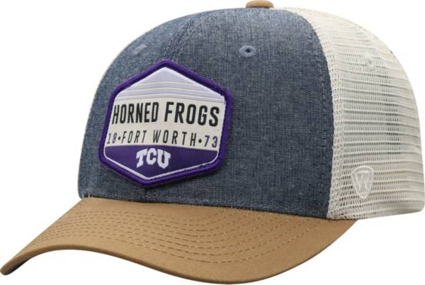 Top of the World Men's TCU Horned Frogs Grey Wild Adjustable Hat product image