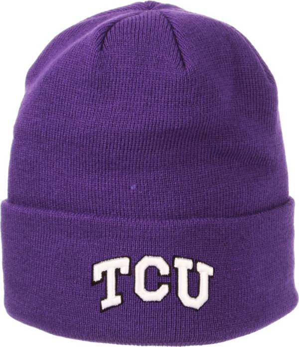 Zephyr Men's TCU Horned Frogs Purple Cuffed Knit Beanie product image