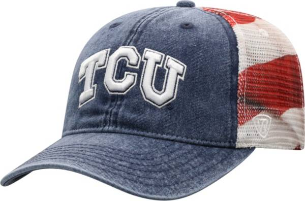 Top of the World Men's TCU Horned Frogs Red/White/Blue July Adjustable Hat product image