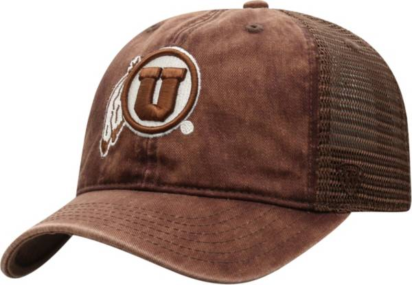 Top of the World Men's Utah Utes Brown Chips Two-Tone Adjustable Hat product image