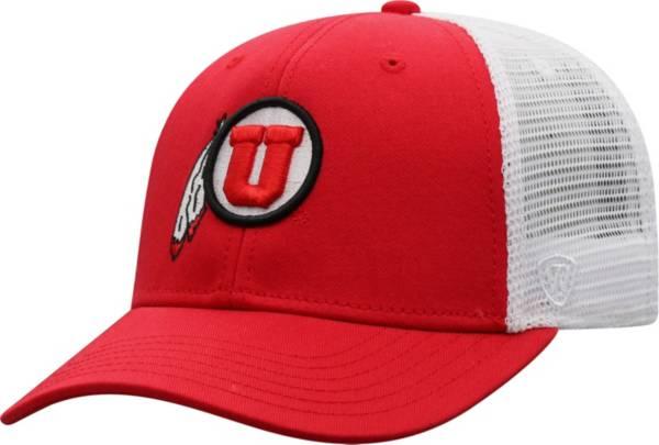 Top of the World Men's Utah Utes Crimson/White BB Two-Tone Adjustable Hat product image