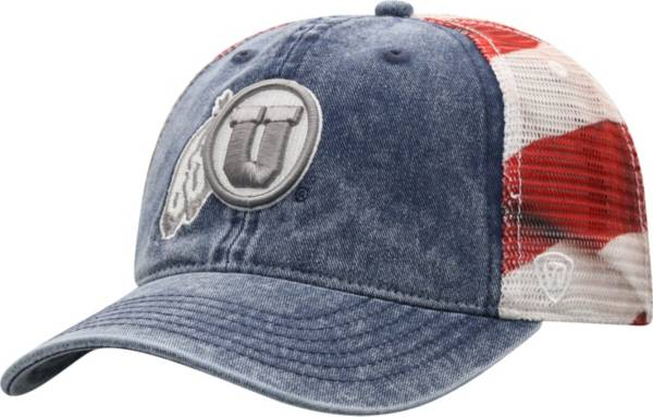 Top of the World Men's Utah Utes Red/White/Blue July Adjustable Hat product image