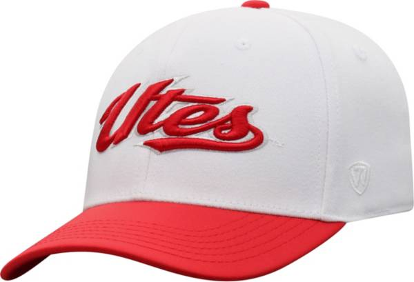 Top of the World Men's Utah Utes Infield 1Fit Flex White Hat product image