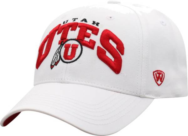 Top of the World Men's Utah Utes White Whiz Adjustable Hat product image