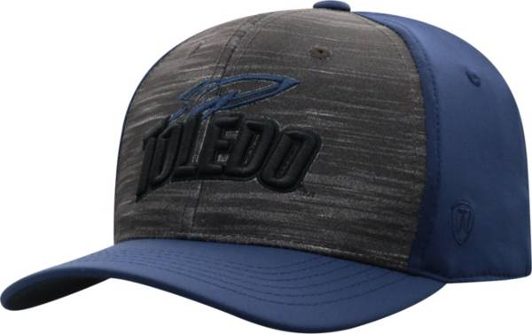 Top of the World Men's Toledo Rockets Grey/Midnight Blue Pepper 1Fit Flex Hat product image