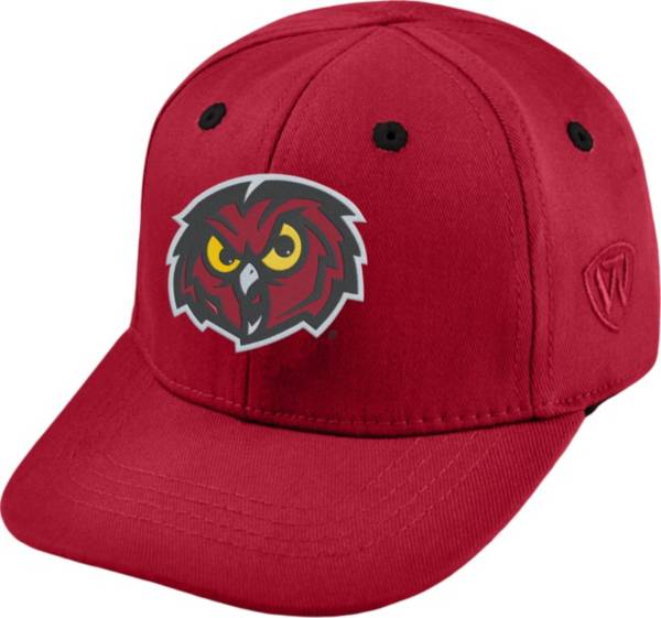 Top of the World Infant Temple Owls Cherry The Cub Fitted Hat product image