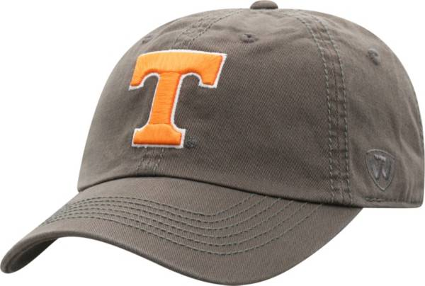 Top of the World Men's Tennessee Volunteers Grey Crew Washed Cotton Adjustable Hat product image