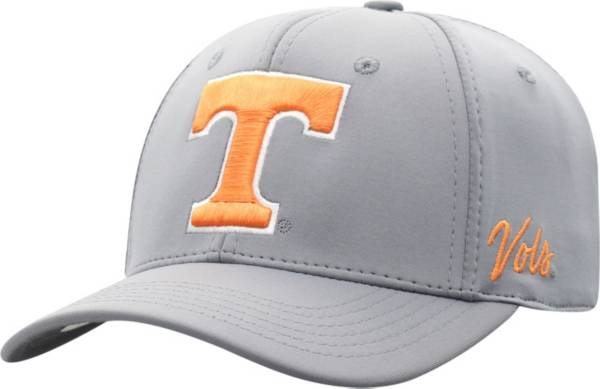 Top of the World Men's Tennessee Volunteers Grey Phenom 1Fit Flex Hat product image