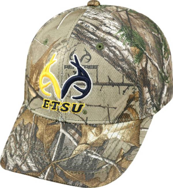 Top of the World Men's East Tennessee State Buccaneers Real Tree Camo RTX 1Fit Flex Hat product image