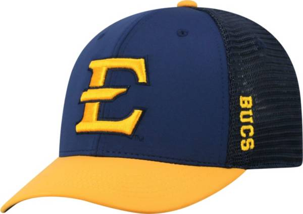 Top of the World Men's East Tennessee State Buccaneers Navy Chatter 1Fit Fitted Hat product image