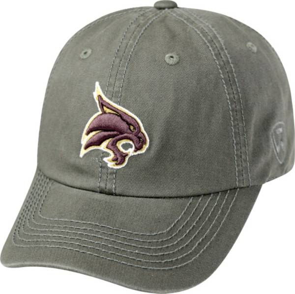 Top of the World Men's Texas State Bobcats Grey Crew Washed Cotton Adjustable Hat product image