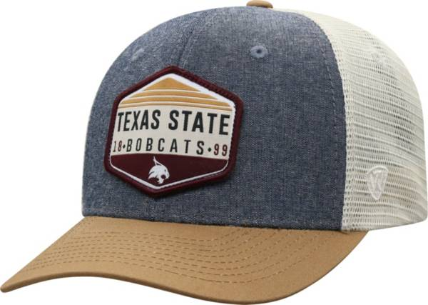 Top of the World Men's Texas State Bobcats Grey Wild Adjustable Hat product image