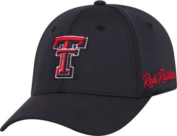 Top of the World Men's Texas Tech Red Raiders Phenom 1Fit Flex Black Hat product image
