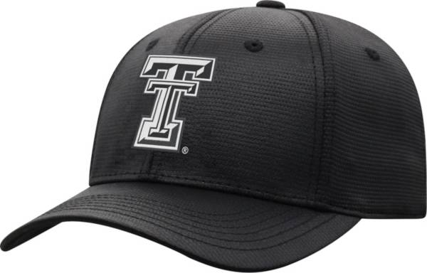 Top of the World Men's Texas Tech Red Raiders Progo 1Fit Flex Black Hat product image