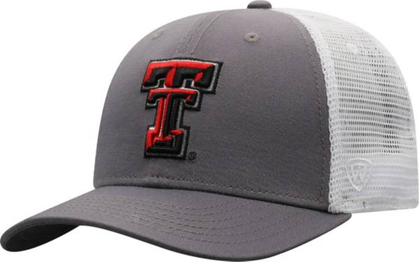 Top of the World Men's Texas Tech Red Raiders Grey/White BB Two-Tone Adjustable Hat product image