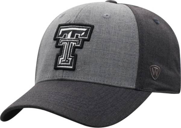 Top of the World Men's Texas Tech Red Raiders Grey Powertrip 1Fit Flex Hat product image