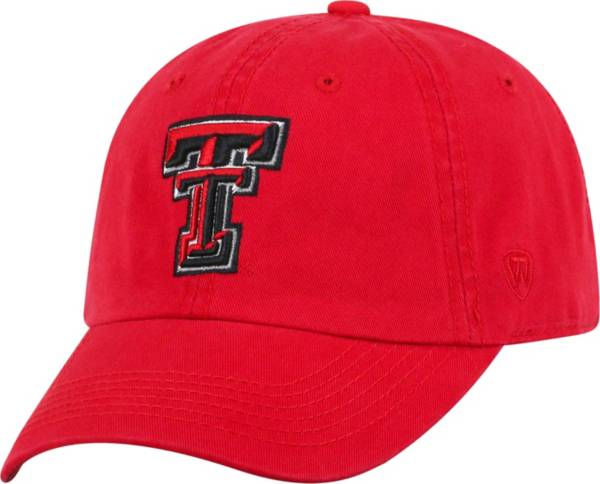 Top of the World Men's Texas Tech Red Raiders Red Crew Washed Cotton Adjustable Hat product image