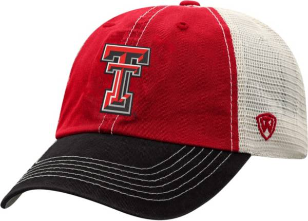 Top of the World Men's Texas Tech Red Raiders Red/White Off Road Adjustable Hat product image