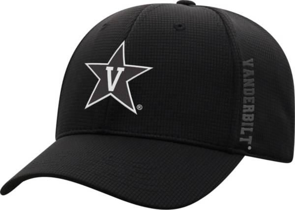 Top of the World Men's Vanderbilt Commodores Booster Plus 1Fit Flex Black Hat product image