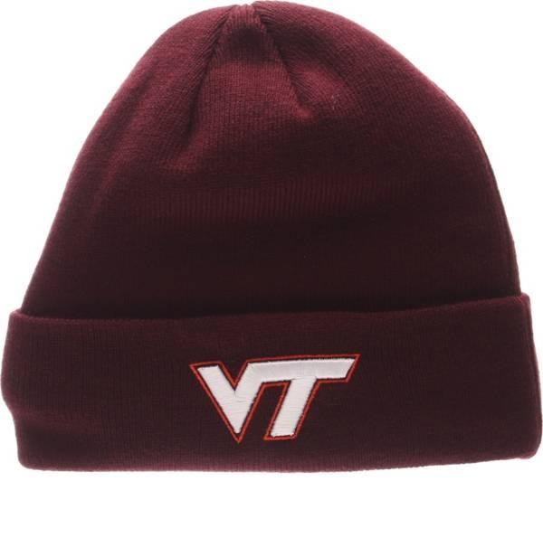 Zephyr Men's Virginia Tech Hokies Maroon Cuffed Knit Beanie product image