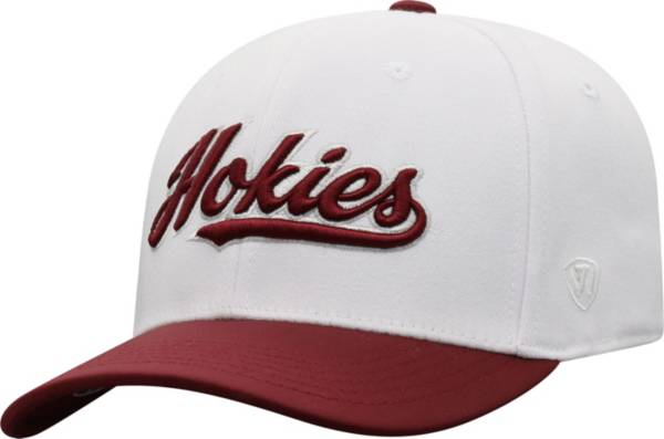 Top of the World Men's Virginia Tech Hokies Infield 1Fit Flex White Hat product image