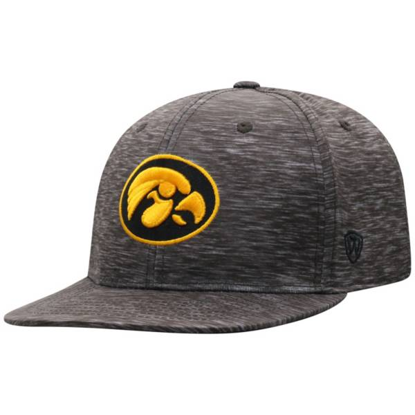 Top of the World Men's Iowa Hawkeyes Gritty 1Fit Flex Black Hat product image