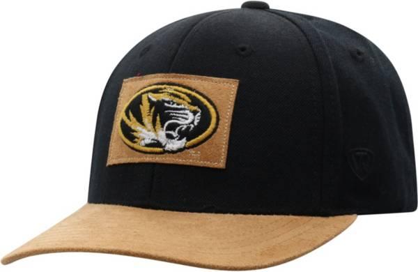 Top of the World Men's Iowa Hawkeyes Hide Adjustable Black Hat product image