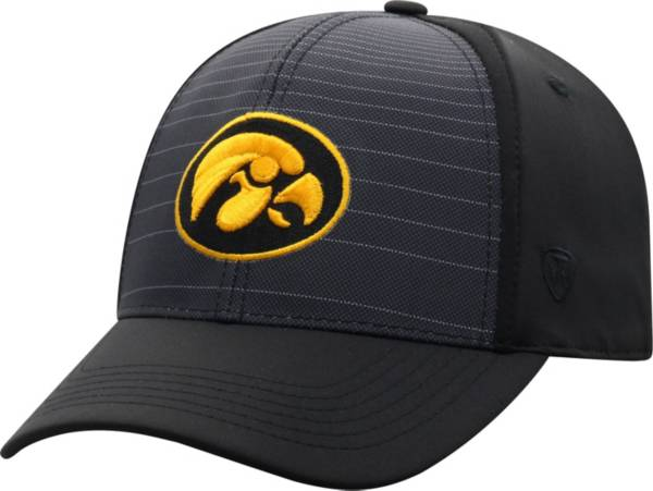 Top of the World Men's Iowa Hawkeyes McGavin 1Fit Flex Black Hat product image