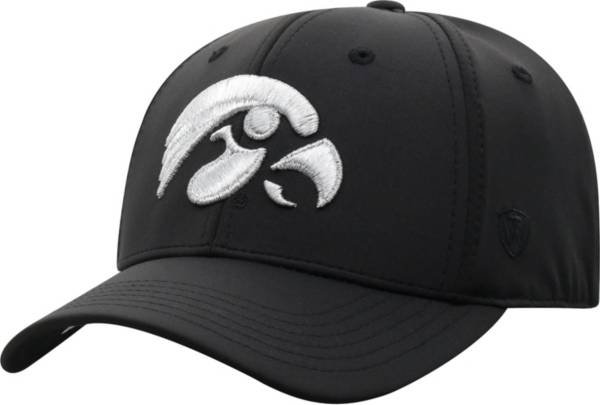 Top of the World Men's Iowa Hawkeyes Phenom 10 1Fit Flex Black Hat product image