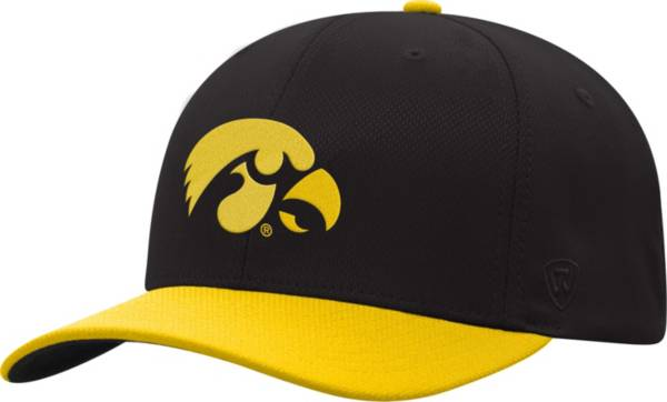 Top of the World Men's Iowa Hawkeyes Reflex Two-Tone Black Fitted Hat product image