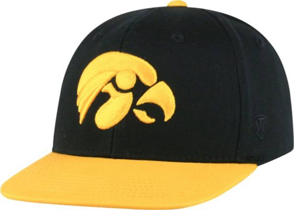 Top of the World Youth Iowa Hawkeyes Maverick Adjustable Black Hat product image