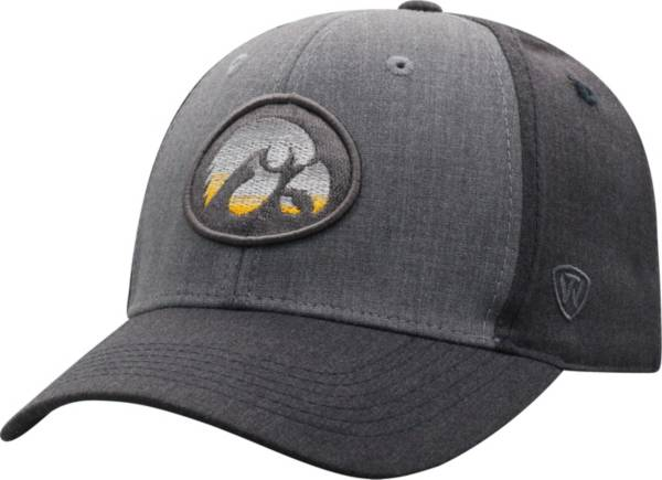 Top of the World Men's Iowa Hawkeyes Grey Powertrip 1Fit Flex Hat product image