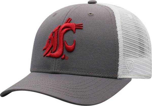 Top of the World Men's Washington State Cougars Grey/White BB Two-Tone Adjustable Hat product image
