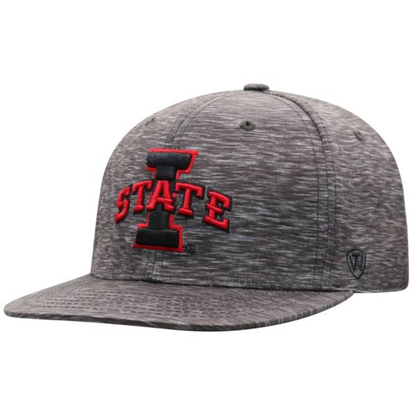 Top of the World Men's Iowa State Cyclones Gritty 1Fit Flex Black Hat product image