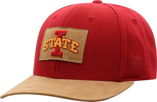 Top of the World Men's Iowa State Cyclones Cardinal Hide Adjustable Hat product image