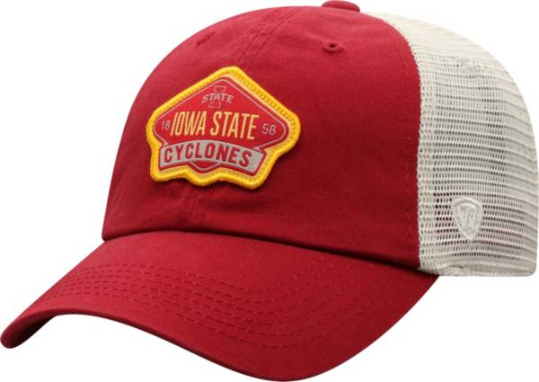 Top of the World Men's Iowa State Cyclones Cardinal/Khaki Nitty Adjustable Hat product image