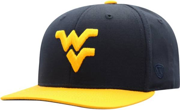 Top of the World Youth West Virginia Mountaineers Blue Maverick Two-Tone Adjustable Hat product image