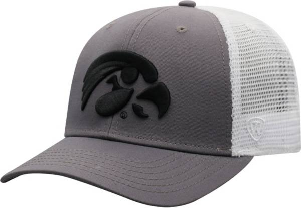 Top of the World Men's Iowa Hawkeyes Grey/White BB Two-Tone Adjustable Hat product image