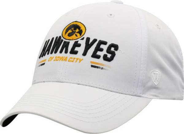 Top of the World Men's Iowa Hawkeyes Centralize Aura Adjustable White Hat product image